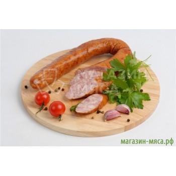 Колбаса свиная домашняя копчёная